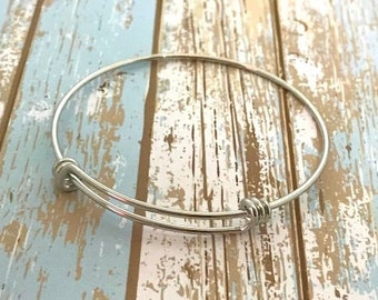 Adjustable Bangle Bracelet - Quantity Options - Silver Plated Brass - High Quality - Unique Triple Loops - SC1103