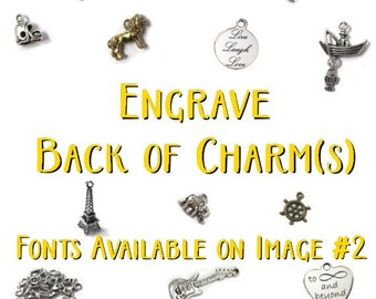 ADD-ON ITEM - Engrave Back of Charm(s) - Read Item Details