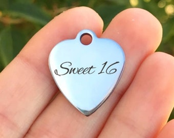 ZF161 USA Teacher Stainless Steel Charm Laser Engraved Gold Plated It Takes A Big Heart To Teach Little Minds Quantity Options
