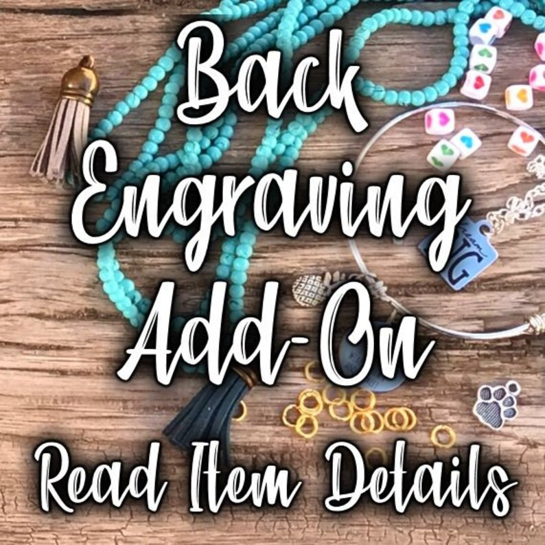 ADD-ON ITEM  Engrave Back of Charms  Choose From 40 image 0