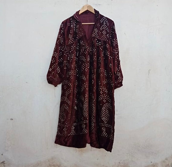 Vintage Tajikistan dress, velvet, kuchi, rock, Stu