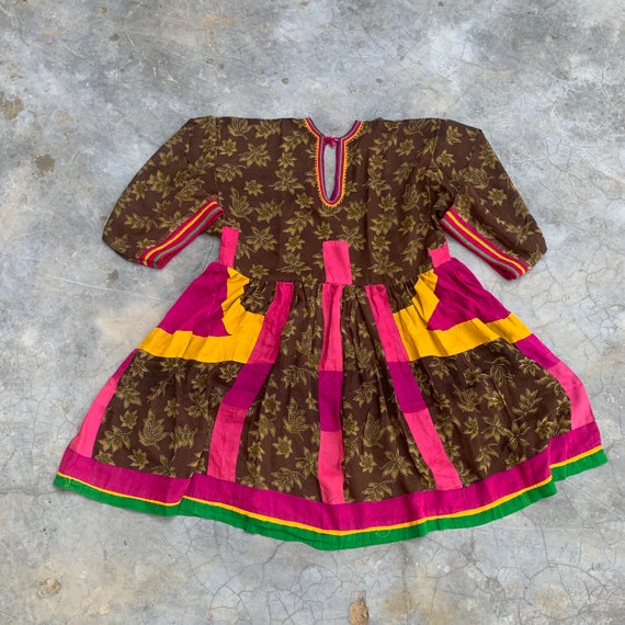 Vintage Afghani dress, patchwork, embroidery, kuch