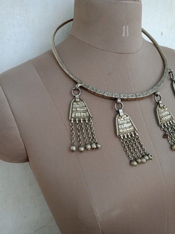 Collier Tour de Cou Pendentif Kuchi Tribal Afghan Boho Gypsy Hippie Fashion Jewelry