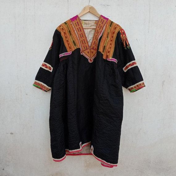 Afgani dress, vintage kuchi dress, embroidery, afg