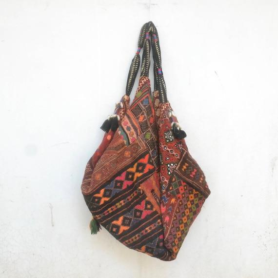 Astonishing Kuchi Bag Embroidery Boho Gypsy Hand Bag Hobo Market Bag Ethnic Gypsy Mirrored Work Banana Bag Vintage Indian Pakistani Afghan Lamtechconsult Wood Chair Design Ideas Lamtechconsultcom