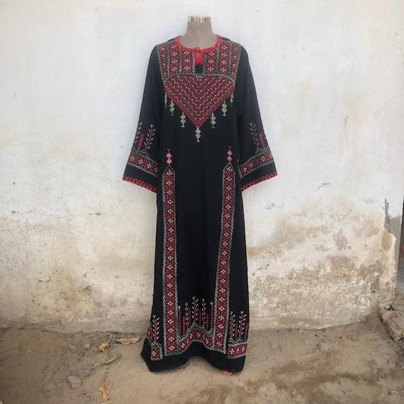 Palestinian vintage dress, bedouin, boho, gypsy, a