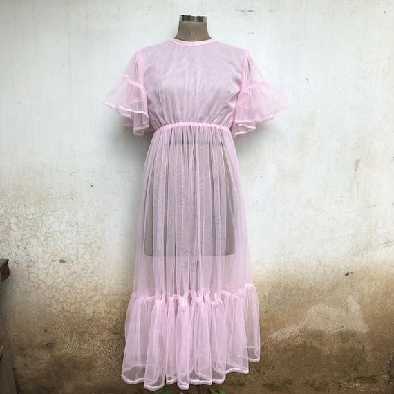vintage tule party dress, wedding vintage dress, p
