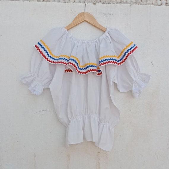Vintage frill blouses, unique vintage, guather tun