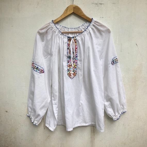 Vintage cotton tunic, Ukrainian blouses, Mexican,