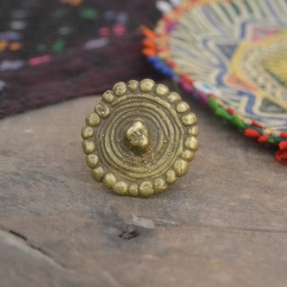 Old Nepal Tibet Short Ellipsoid Shaped Carved Lines Red Carnelian Agate Bead III
