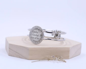The Great Gatsby reclaimed book page bangle bracelet