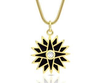 Starburst Enamel Necklace