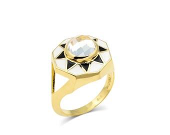 Starburst Enamel Ring