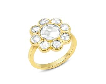 Topaz Cluster Ring