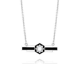Starburst Enamel Bar Necklace