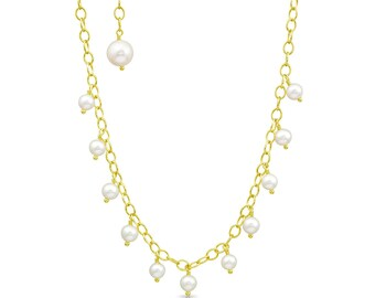 Yellow Gold Vermeil Drop Necklace