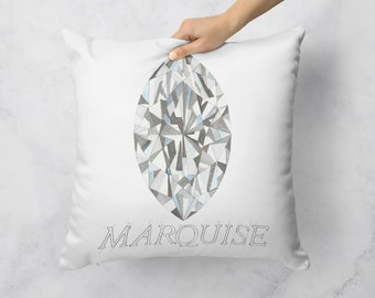 Marquise Diamond Pillow