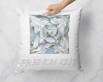 French Cut Diamond Pillow