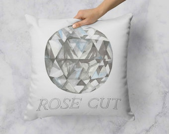 Rose Cut Diamond Pillow
