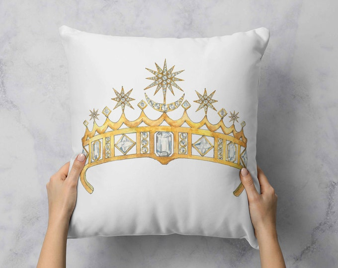 Featured listing image: Star & Crescent Moon Tiara Pillow