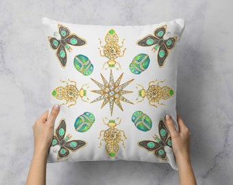 Jeweled Menagerie Pillow