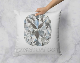 Cushion Cut Diamond Pillow