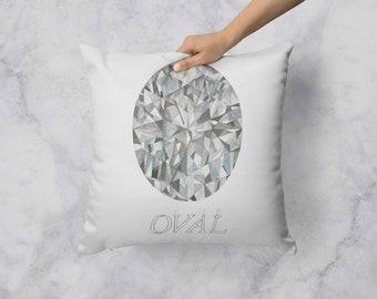 Oval Diamond Pillow