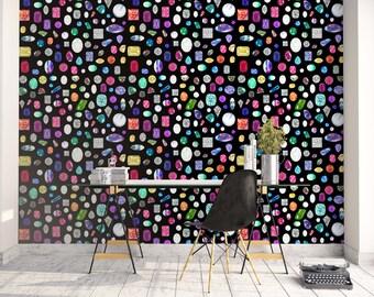 Gemstone & Diamond Wallpaper Sample