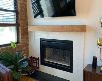 Wood Beam Mantle, Wood Mantle, Fireplace Mantle, Mantel, Fireplace Beam, Floating Shelf, Mantle Shelf