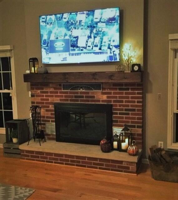 Small Fireplace Mantel Surrounds: Small Wood Beam Mantel Fireplace Mantel Rustic Mantel