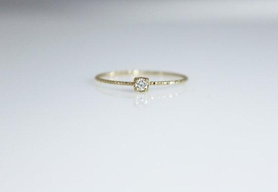 bague diamant fine