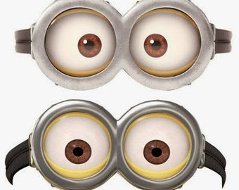 picture about Printable Minion Goggles named MINION Minion Video Minion Goggles Fast Obtain Etsy