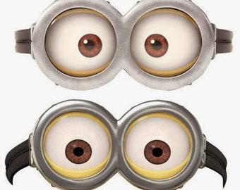 image regarding Printable Minion Eye titled Printable minion Etsy