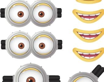 graphic regarding Minion Eye Printable called Minion Etsy