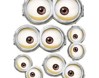 photo relating to Minion Eye Printable identified as MINION Minion Video Minion Goggles Quick Obtain Etsy