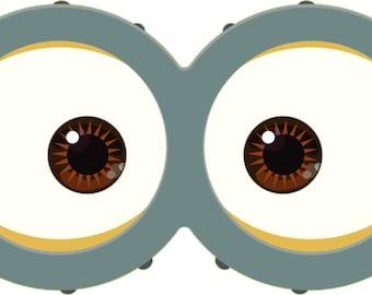 graphic regarding Printable Minion Goggles known as MINION Minion Video Minion Goggles Fast Obtain Etsy