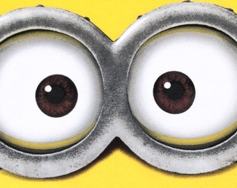 picture relating to Minion Eye Printable known as MINION Minion Video clip Minion Eyes Evil Crimson Minion Etsy
