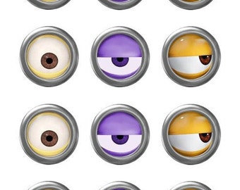 picture regarding Minion Eye Printable called MINION Minion Video Minion Eyes Evil Pink Minion Etsy