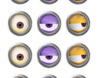 picture regarding Minion Eye Printable called MINION Minion Video Minion Eyes Evil Pink Minion Etsy