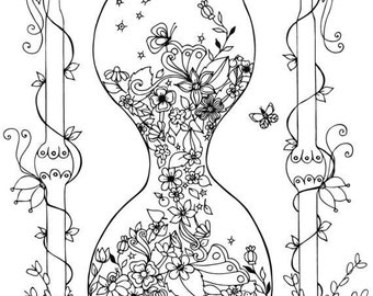 Flower Instant Download Adult Coloring Pages Digital Etsy