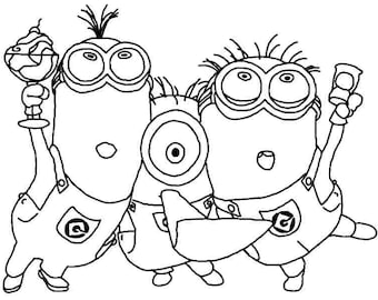 Kleurplaten Minions A4.Hourglass Instant Download Adult Coloring Pages Digital Etsy