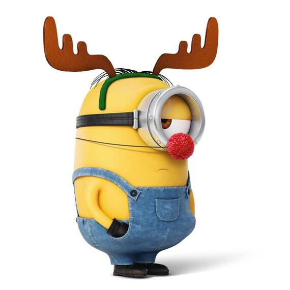 Immagini Minions Natale.Minion Minion Renna Cartolina Di Natale Natale Minion Film Download Immediato Digitale Disegno Stampabile Stampabile Stampabile