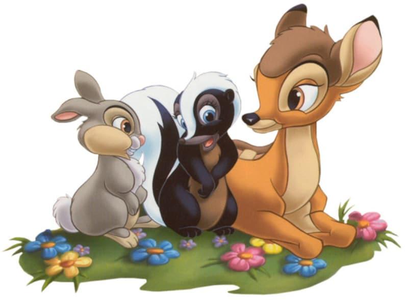 BAMBI - Thumper - Flower - Instant Download - Digital Printable Design -  Bambi Thumper Flower Printable