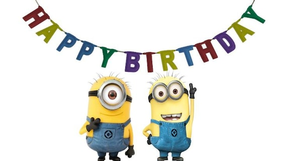 Monster image intended for printable minion birthday card