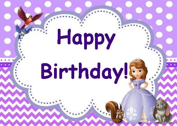 Sofia The First Birthday Party Card Set Instant Download Etsy