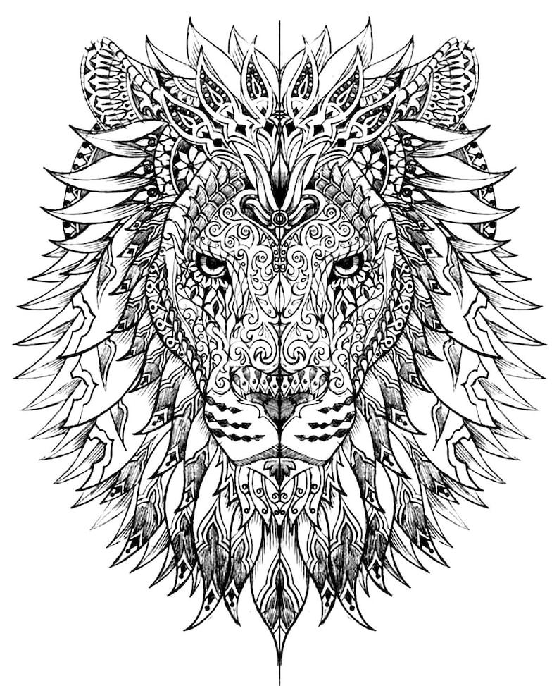 Löwe Sofort Download Erwachsene Malvorlagen Digital Bedruckbare Design Malvorlagen Zum Ausdrucken Löwen Zum Ausdrucken