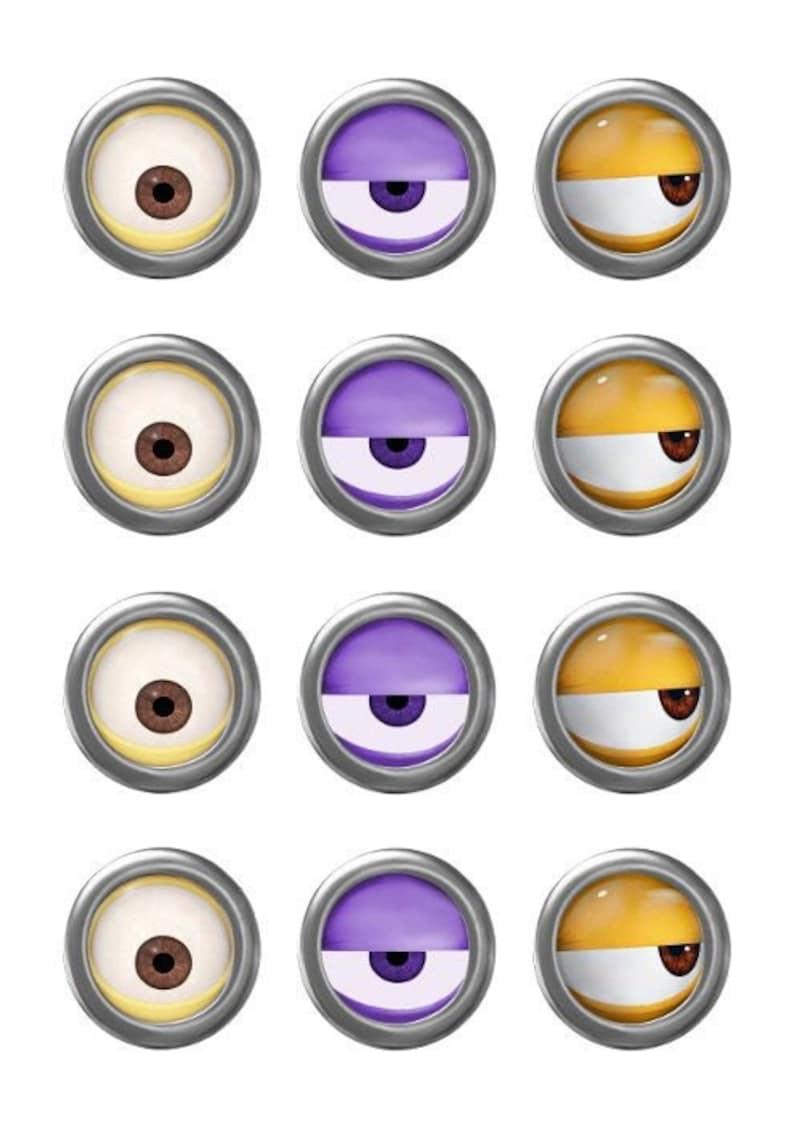 It is a photo of Genius Minion Eye Printable