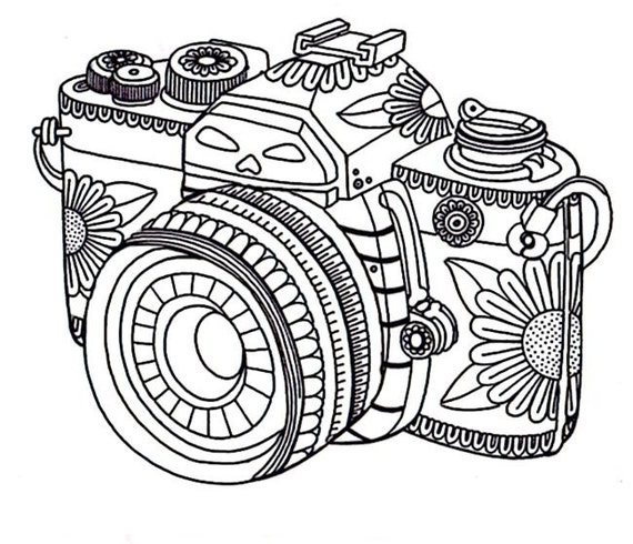Camera Instant Download Volwassen Coloring Pages Etsy