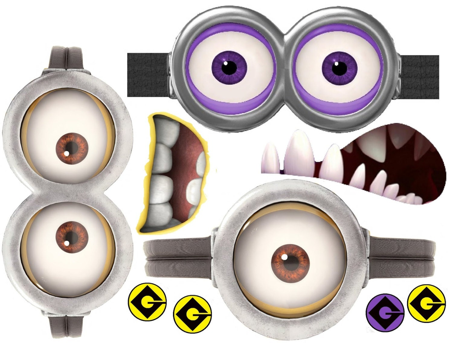 Crush image with regard to minions printable eyes