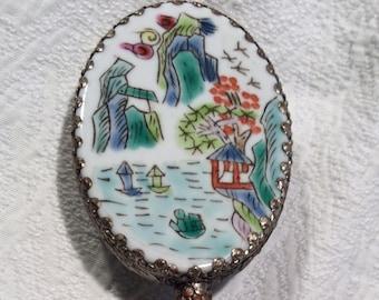 Vintage handy mirror,jade,chinese